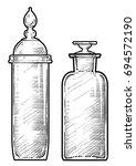 potion  medicine bottle... | Shutterstock .eps vector #694572190