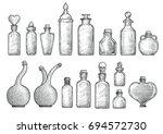potion  medicine bottle... | Shutterstock .eps vector #694572730
