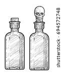potion  medicine bottle... | Shutterstock .eps vector #694572748
