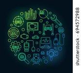 colorful automotive diagnostics ... | Shutterstock .eps vector #694572988