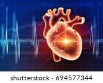 modern medicine cardiology... | Shutterstock . vector #694577344