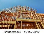 Wood Framework Of New...