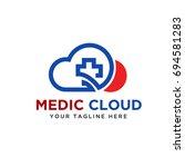 medic cloud | Shutterstock .eps vector #694581283