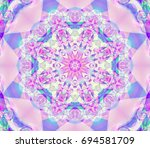 abstract kaleidoscope lilac... | Shutterstock . vector #694581709