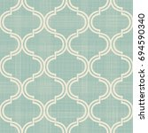 seamless moroccan pattern in... | Shutterstock .eps vector #694590340