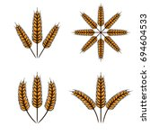 wheat vector template | Shutterstock .eps vector #694604533