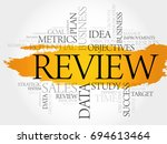 review word cloud  business... | Shutterstock . vector #694613464