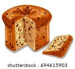 illustration of baked panettone ... | Shutterstock .eps vector #694615903