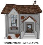 Brick House With Broken Door...
