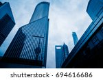 shanghai cityscape and skyline | Shutterstock . vector #694616686