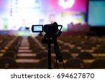 video camera in business... | Shutterstock . vector #694627870