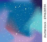 vector cosmic night sky...   Shutterstock .eps vector #694628554