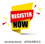 banner register now | Shutterstock .eps vector #694638013