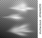 set of airy water spray mist.... | Shutterstock .eps vector #694646050