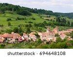 valea viilor  transylvania ...   Shutterstock . vector #694648108