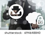 cloud computing secure data web ... | Shutterstock . vector #694648840
