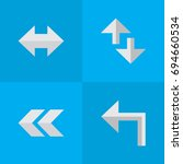 vector illustration set of... | Shutterstock .eps vector #694660534