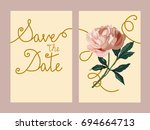 save the date  wedding... | Shutterstock .eps vector #694664713