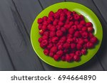 raspberries.fresh and sweet... | Shutterstock . vector #694664890
