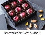 set of luxury handmade bonbons... | Shutterstock . vector #694668553