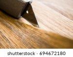 cut linoleum | Shutterstock . vector #694672180