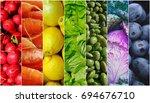 food rainbow   Shutterstock . vector #694676710