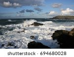 Seascape With Waves And...