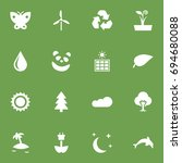 set of 16 natural icons set...