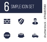 set of 6 security icons set... | Shutterstock .eps vector #694680580
