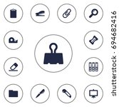 set of 13 tools icons set... | Shutterstock .eps vector #694682416