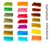 vector set of colorful stripes... | Shutterstock .eps vector #694692493
