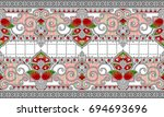 seamless traditional indian... | Shutterstock . vector #694693696