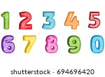 colorful set of hand drawn... | Shutterstock .eps vector #694696420