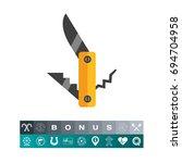 Pocket Knife  Fork And Corkscrew