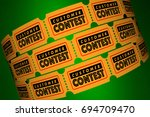 customer contest clients... | Shutterstock . vector #694709470