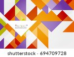 triangle pattern design... | Shutterstock . vector #694709728