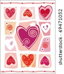 abstract valentines day. ... | Shutterstock .eps vector #69471052