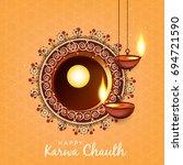 happy karwa chauth  vector... | Shutterstock .eps vector #694721590