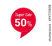 sale red tag. discount offer... | Shutterstock .eps vector #694725838