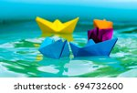 paperboats origami | Shutterstock . vector #694732600