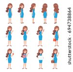 vector character in flat style... | Shutterstock .eps vector #694738864