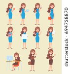 vector character in flat style... | Shutterstock .eps vector #694738870