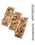 nut bars on white background | Shutterstock . vector #694740520