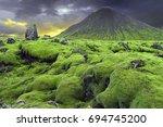 icelandic landscape  | Shutterstock . vector #694745200