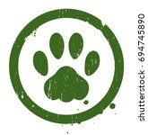 vector grunge paw sign.... | Shutterstock .eps vector #694745890