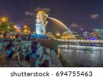 singapore  singapore   august... | Shutterstock . vector #694755463