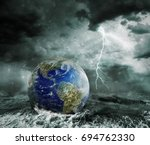 global warming and apocalypse... | Shutterstock . vector #694762330