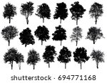 collection of silhouette of... | Shutterstock . vector #694771168