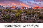 sunrise at red rock canyon ... | Shutterstock . vector #694775293
