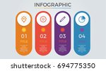 infographic elements vector... | Shutterstock .eps vector #694775350